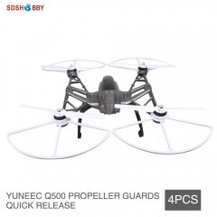 4pcs YUNEEC Q500 Quick Release Propeller Protector Guard Bumper Shielding Ring Snap On/Off