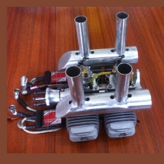 DLA232 CNC Processed Gasoline Engine/Petrol Engine 232CC for Gas Airplane with Four Cylinders