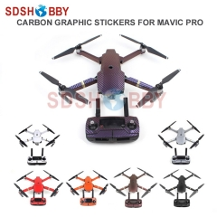 Waterproof Carbon Graphic Stickers Skin Decals Wrap Drone Body/ Remote Controller/ Battery/ Arm Stickers for DJI MAVIC PRO