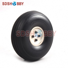 4.5inch PU Wheel for RC Airplane H41mm with D5mm CNC Aluminum Hub