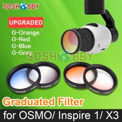 1pc Sunnylife Lens Filter Graduated Filter Graduated Orange/ Red/ Blue/ Grey X3 Filter for DJI OSMO / OSMO+/ Inspire 1