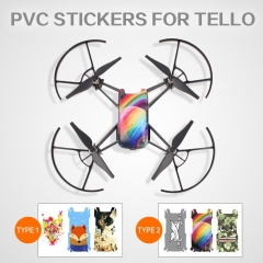 Cool Waterproof PVC Stickers Drone Body Skin Decals for DJI TELLO EDU