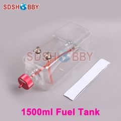 6STARHOBBY 1500ml Transparent Fuel Tank for 150-200cc Gasoline Airplanes
