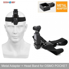 Sunnylife Head Band Wearing Belt Strap Aluminum Alloy Adapter for DJI OSMO POCKET and GOPRO Camera