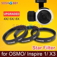1pc Sunnylife Lens Filter 4X 6X 8X Star Filter Night Filter 4-Point 6-Point 8-Point X3 Filter for DJI OSMO / OSMO+/ Inspire 1