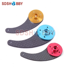 6STARHOBBY 50mm Carbon Fiber Single Servo Horn with 25T Futaba/ 24T Hitec/ 23T JR Servo Plate for 50-80cc Gasoline Airplane