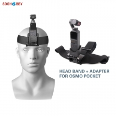 Sunnylife Head Band Wearing Belt Strap and Adapter Accessories for DJI OSMO POCKET and GOPRO Camera
