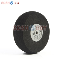 D60 x H19 xD3mm RC Airplane Sponge Wheel for Main Wheel of 40-60 Grade Nitro Airplanes