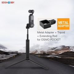 Sunnylife Aluminum Alloy Adapter Kit Tripod Mount Extension Rod Selfie Stick for POCKET 2/OSMO POCKET/GOPRO