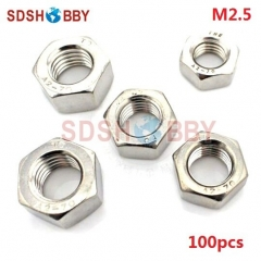 100pcs* M2.5 Stainless Steel 304 Hexagon Nut/ Screw Cap