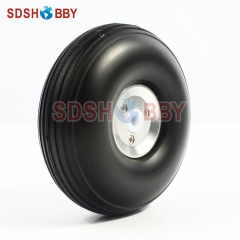 RC Airplane PU wheel with CNC Aluminum Hub 3.5'' (D88.9 x H32 x 5mm)