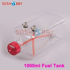6STARHOBBY 1000ml Transparent Fuel Tank for 85-120cc Gasoline Airplanes
