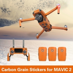 Sunnylife Waterproof PVC Stickers Carbon Grain Skin Decals for DJI MAVIC 2 PRO ZOOM Drone Remote Controller Battery