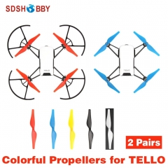 2 Pairs Propellers Colorful Props for DJI TELLO EDU Drone