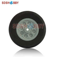 D55 x H19 x d3mm RC Airplane Sponge Wheel for Main Wheel of 40-60 Grade Nitro Airplanes