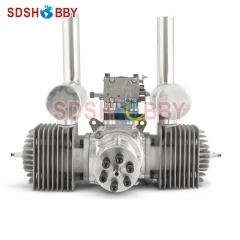 DLA180 CNC Processed Gasoline Engine/Petrol Engine 180CC for Gas Airplane with Double Cylinders