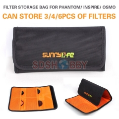 Sunnylife Lens Filter Bag MCUV CPL ND Filters Portable Storage Bag for DJI Phantom 3/4 Inspire OSMO X3 X5