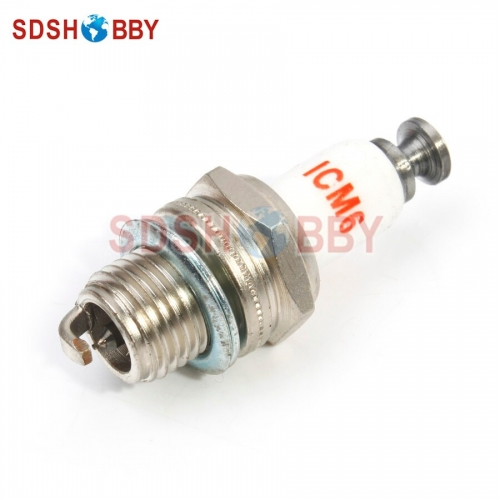 Rcexl CM6-10mm Iridium Spark Plug for Gas/ Petrol Engine DLE30, DLE55, DLE111, DLA56, DLA32, DLA112, EME55
