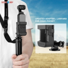 Sunnylife Updated Adapter Mount Selfie Stick Tripod Connecting Accessories for DJI OSMO POCKET Gimbal Camera