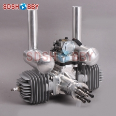 DLA116 CNC Processed Gasoline Engine/Petrol Engine 116CC for Gas Airplanes with Double Cylinders