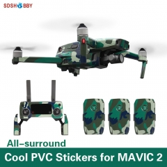 Sunnylife Waterproof PVC Stickers Skin Decals for DJI MAVIC 2 PRO/ZOOM Drone Remote Controller Battery