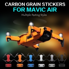 Sunnylife PVC Carbon Grain Stickers Carbon Graphic Skin Full Set Drone Body Battery Decals for DJI MAVIC AIR