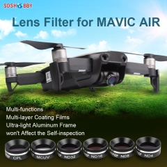 Sunnylife Multifunctional Lens Filter MCUV CPL ND4 ND8 ND16 ND32 Filter Sunhood for DJI MAVIC AIR