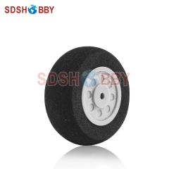 D30 x H11 x d2mm RC Airplane Sponge Wheel for Tail Wheel Landing Gear