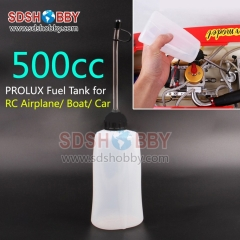Prolux PX1667 500cc Soft Fuel Tank Oiler Lubricator Including Aluminum Oil Pipe for RC Airplane/ Boat/ Car