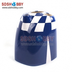 Cowl for Slick 540 30-35cc RC Gasoline Airplane (with winglets) Blue/ White Color (for AG342-B)