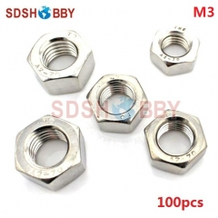 100pcs* M3 Stainless Steel 304 Hexagon Nut/ Screw Cap