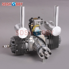 DLA64 CNC Processed Gasoline Engine/Petrol Engine 64CC For Gas Airplanes With Double Cylinders