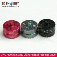CNC Aluminium Alloy Quick Release Propeller Mount Set/ Compatible with 3mm 3.17mm 4mm M8 Shaft