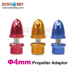 Aluminum Bullet Propeller Adaptor 4.0mm (Blue/ Red/ Yellow Color)