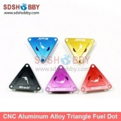 CNC Aluminum Alloy Triangle Fuel Plug/Fuel Dot with Fuel Filling Nozzle for Engine- Purple/ Black/ Blue/ Yellow/ Red Color