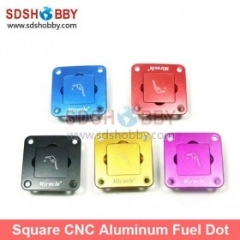 High Quality Square CNC Aluminum Fuel Plug/Fuel Dot With Fuel Filling Nozzle-Purple Color (With Magnet Inside)