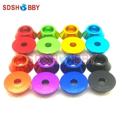 10PCS M2.5 Aluminum Alloy Cone Cup Head Screw Gasket Washer (Multicolor)