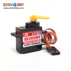 Power HD-1900MG Micro Analog Servo 1.5KG 14g With Metal Gear For ALIGN 450 Helicopter & EPO Airplane