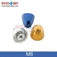 Aluminum Adaptor Spinner For RC Model Airplanes M6 D32 X H30 Mm-Blue/ Silver/Yellow Color