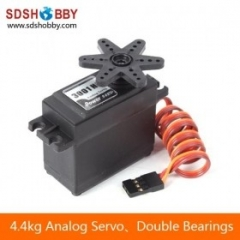 Power HD 4.4kg/ 36g Analog Servo HD-3001HB with Plastic Gear 25T, Double Bearings