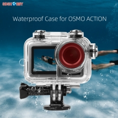 Sunnylife 60 Meters Waterproof Protective Underwater Housing Case Diving Shell for DJI OSMO ACTION Sport Camera