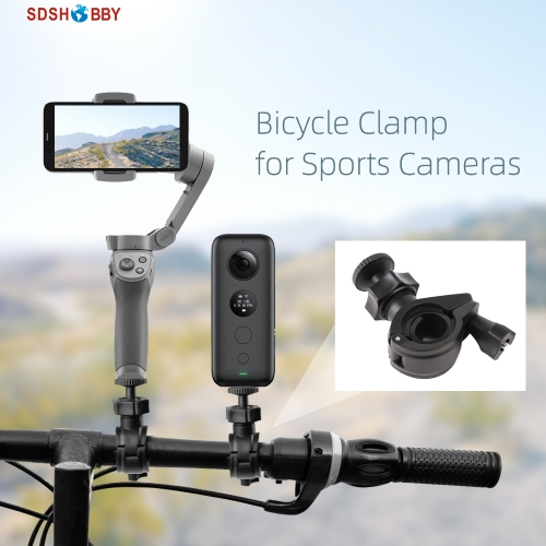 Bicycle Clamp Camera Mount Holder Clip 1/4in Adapter Accessories for Insta360 One X Sports Camera OSMO Mobile 2 3