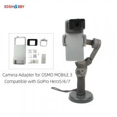 Camera Adapter Mount Holder Bracket for OSMO MOBILE 3 and GoPro Hero 5/6/7