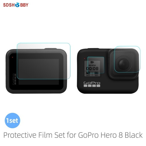 Sunnylife Protective Film Set Tempered Glass Lens Back Front Screen Protector for GoPro Hero 8 Black