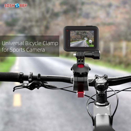 Sunnylife Sports Camera Bicycle Clamp Universal Adjustable Clips for Insta360 One R GoPro 8 Osmo Action Osmo Pocket