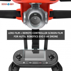 Sunnylife Tempered Glass Film Set Lens Film Remote Controller Screen Film for Autel Robotics EVO II 8K Drone