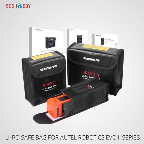 Sunnylife Explosion-proof Battery Safe Bag Protective LiPo Safe Bag for Autel Robotics EVO II Series Drone