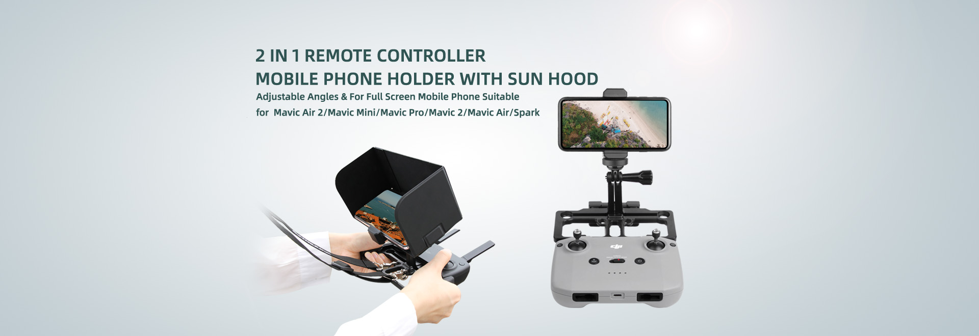 Mobile Phone Holder with Sun Hood