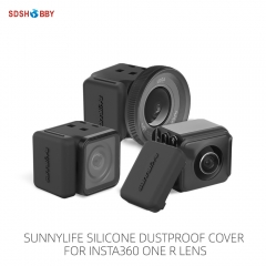 Sunnylife 2Pcs Dustproof Plug Silicone Cover Protective Cap for Insta360 ONE R Lens