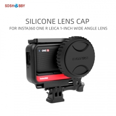 Sunnylife Silicone Lens Cap Dust-proof Protective Lens Cover for Insta360 One R Leica 1-INCH Wide Angle Lens